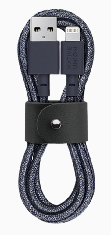 Native Union Belt Cable Ultra Strength Lightning Cable 1.2m - Indigo at Small Dog Electronics