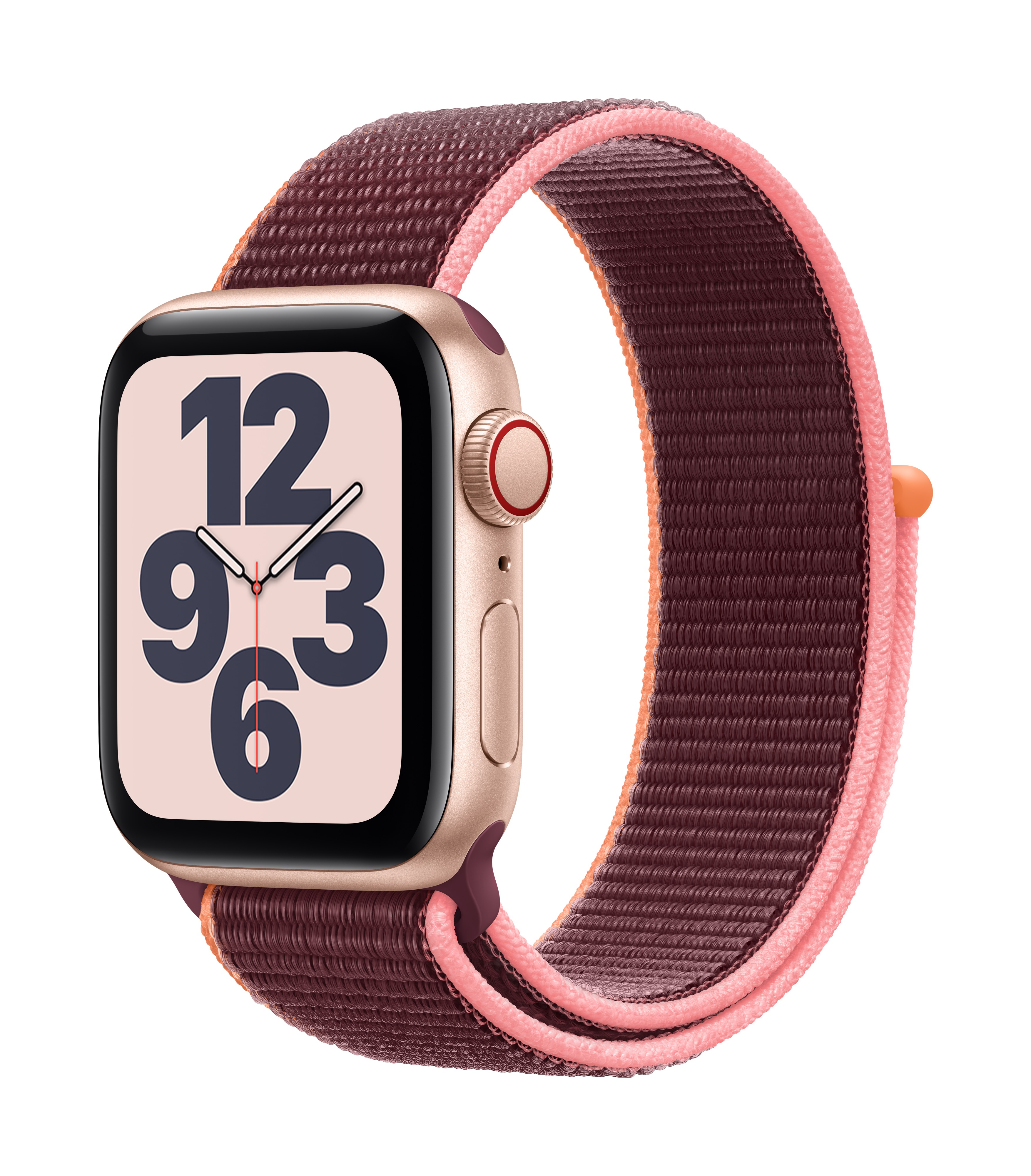 Apple Watch SE GPS + Cellular 40mm Gold Aluminum w/ Plum Sport Loop at Small Dog Electronics
