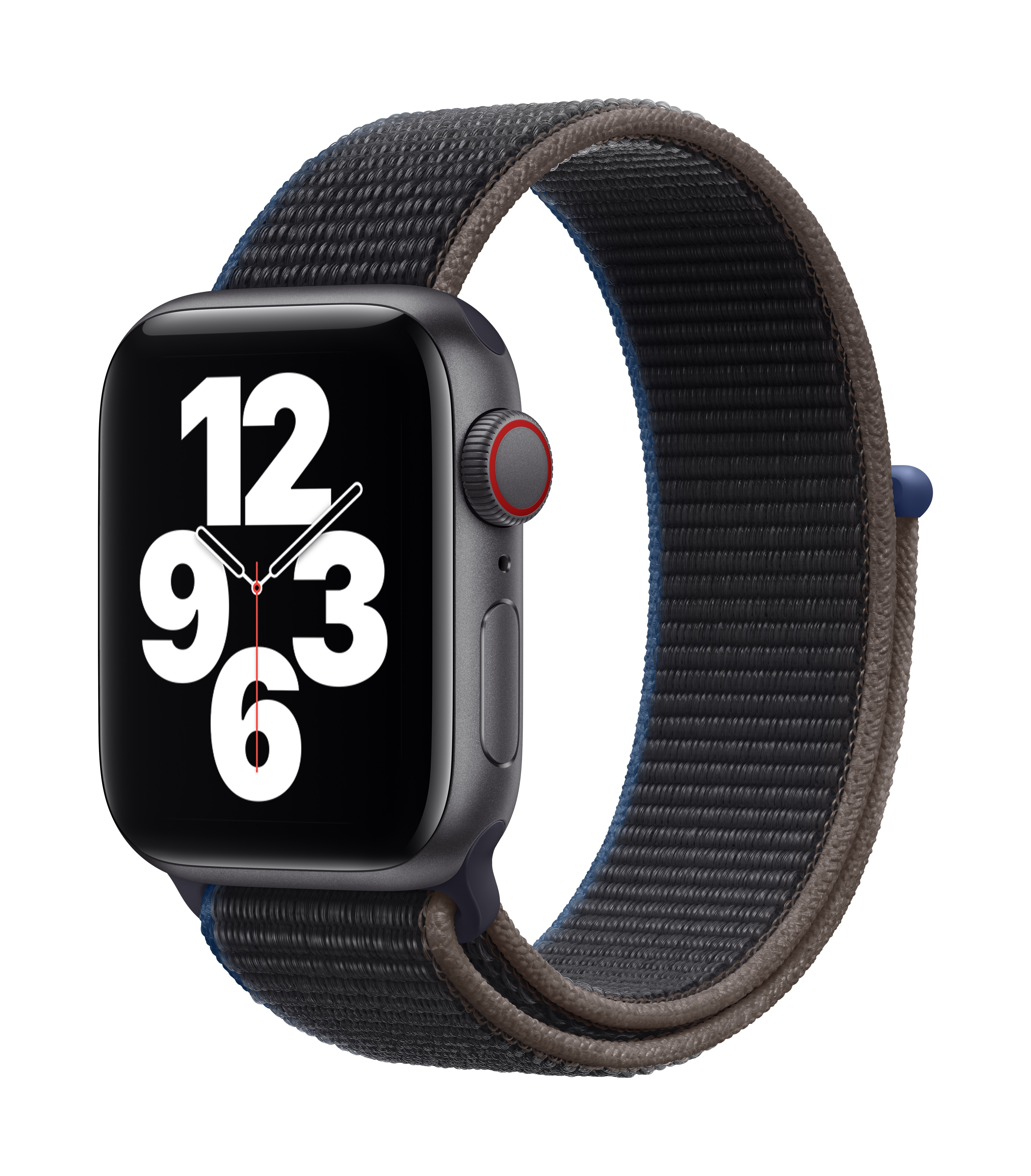 Apple Watch SE GPS + Cellular 40mm Space Gray Aluminum w/ Charcoal Sport Loop at Small Dog Electronics