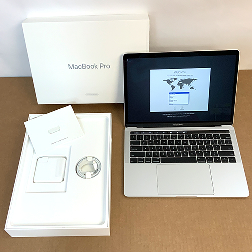 Refurbished - MacBook Pro 13in Touch Bar 2.3GHz i5 Quad-Core 8GB/256GB Silver MR9U2LL/A at Small Dog Electronics