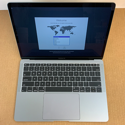New, Open Box - Macbook Air 13in 1.6GHz Dual-Core i5 8GB/128GB Space Gray MRE82LL/A at Small Dog Electronics