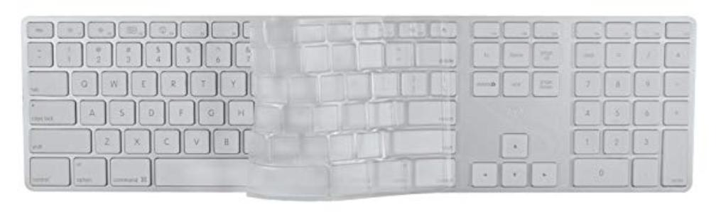 EZQuest Clear Invisible Keyboard Cover for Apple Extended Keyboard at Small Dog Electronics