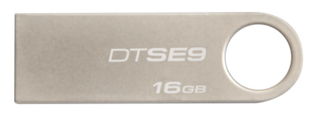 Kingston USB 2.0 DataTraveler GE9 Champagne Metal Casing - 16GB at Small Dog Electronics