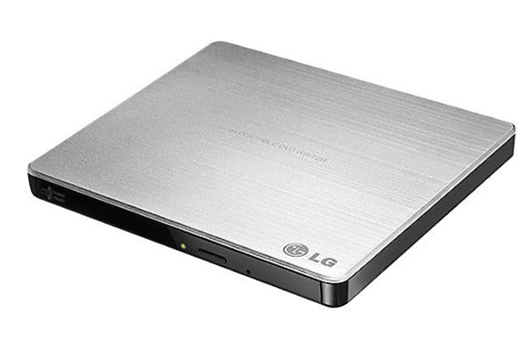 LG Super-Multi USB Portable DVD/CD Rewriter w/M-Disc - Silver at Small Dog Electronics