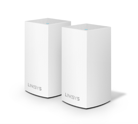 Linksys Velop Dual Band Mesh Networking Wireless Router, 2-Pack - White at Small Dog Electronics