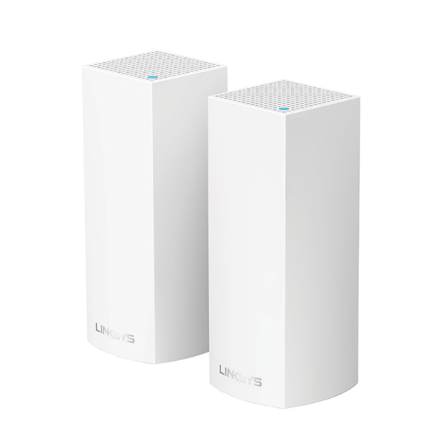 Linksys Velop Tri-Band Mesh Networking Wireless Router, 2-Pack - White at Small Dog Electronics