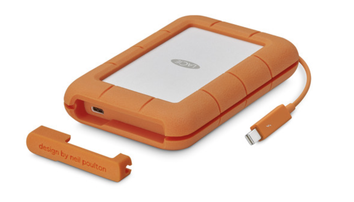 Lacie Rugged Thunderbolt USB-C External Hard Drive - 2TB at Small Dog Electronics