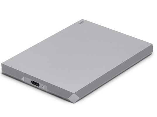 LaCie Mobile Drive External Hard Drive USB-C USB 3.0 1TB Silver at Small Dog Electronics