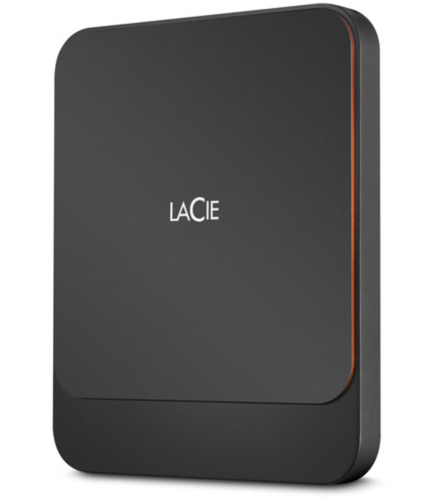 Lacie Portable High Performance SSD External Hard Drive - 500GB - Black at Small Dog Electronics