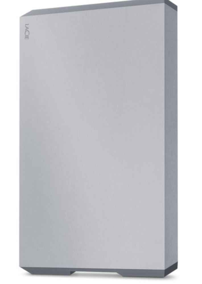 LaCie Mobile Drive External Hard Drive USB-C USB 3.0 2TB Space Grey at Small Dog Electronics