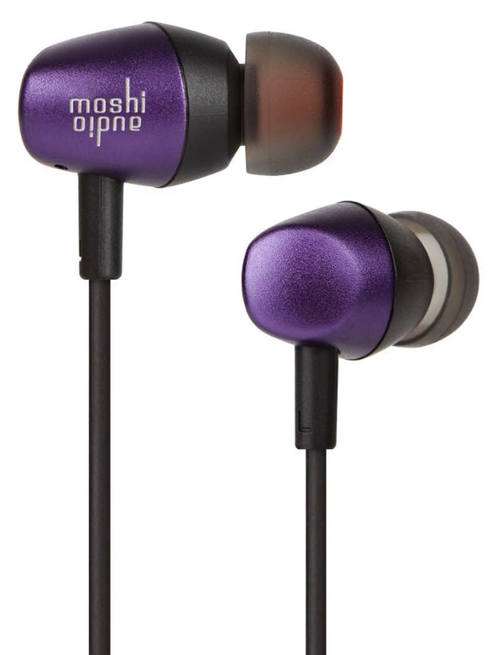 Moshi Mythro Earbuds with Mic - Tyrian Purple at Small Dog Electronics