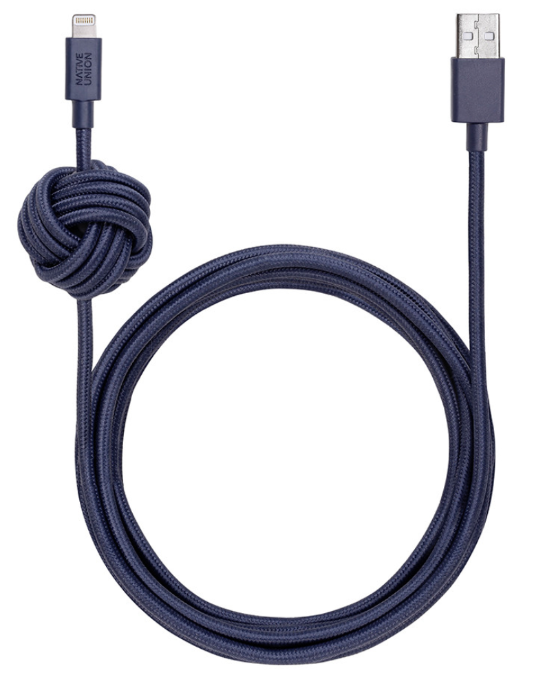 Native Union Night Cable Ultra Strength Lightning Cable 10ft - Indigo at Small Dog Electronics