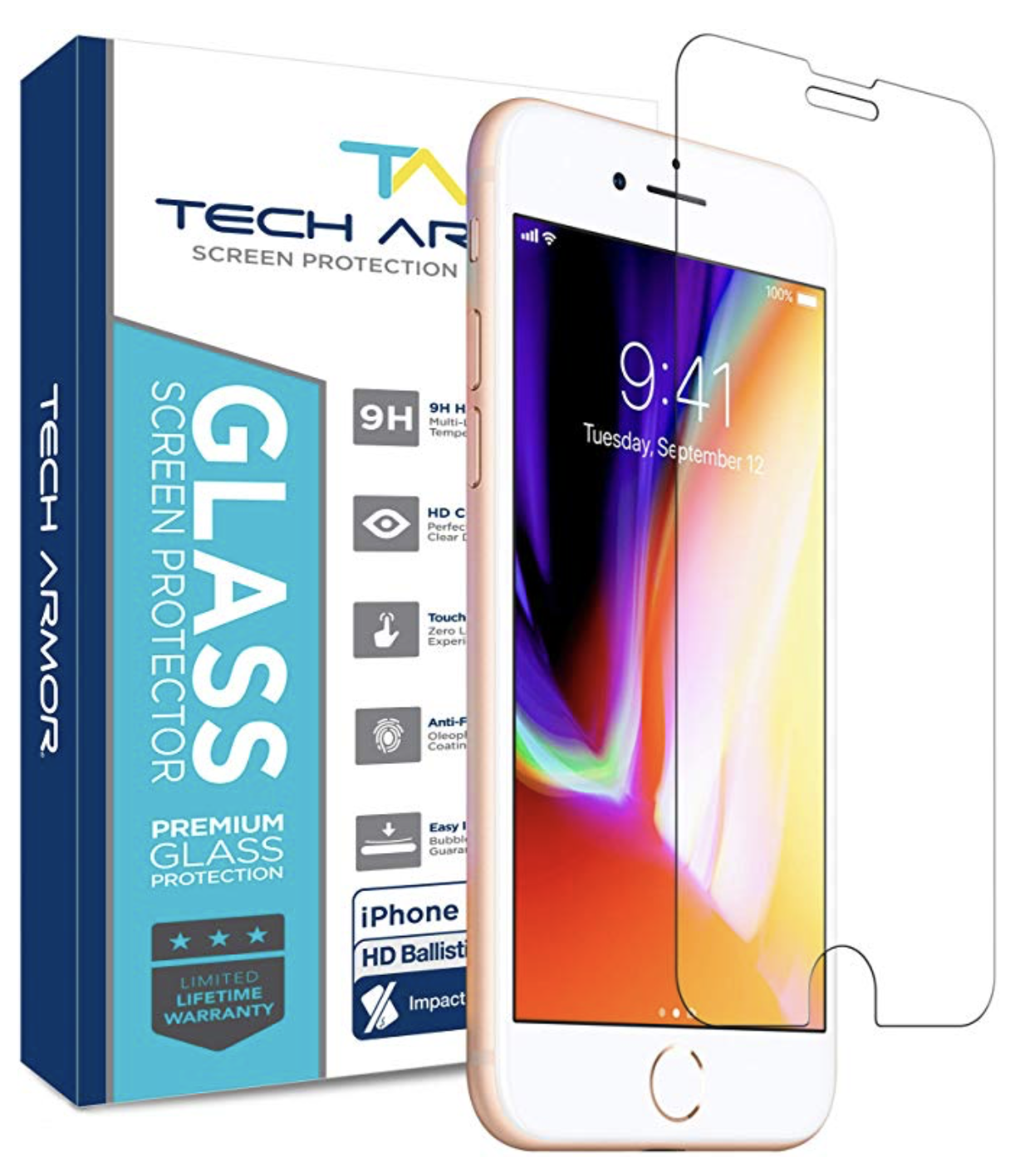 Tech Armor ELITE Ballistic Glass Screen Protector for iPhone 6/7/8 Plus - 1pk at Small Dog Electronics