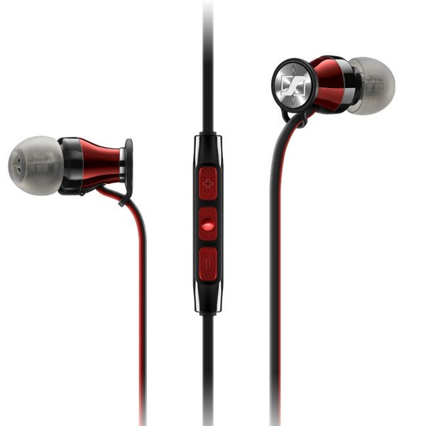 Sennheiser HD 1 In-Ear Earbuds - Black/Red at Small Dog Electronics