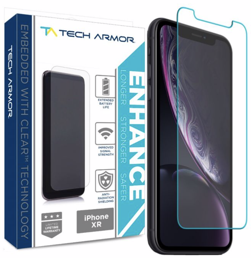 Tech Armor Ballistic Glass Screen Protector for iPhone XR - 1-Pack at Small Dog Electronics