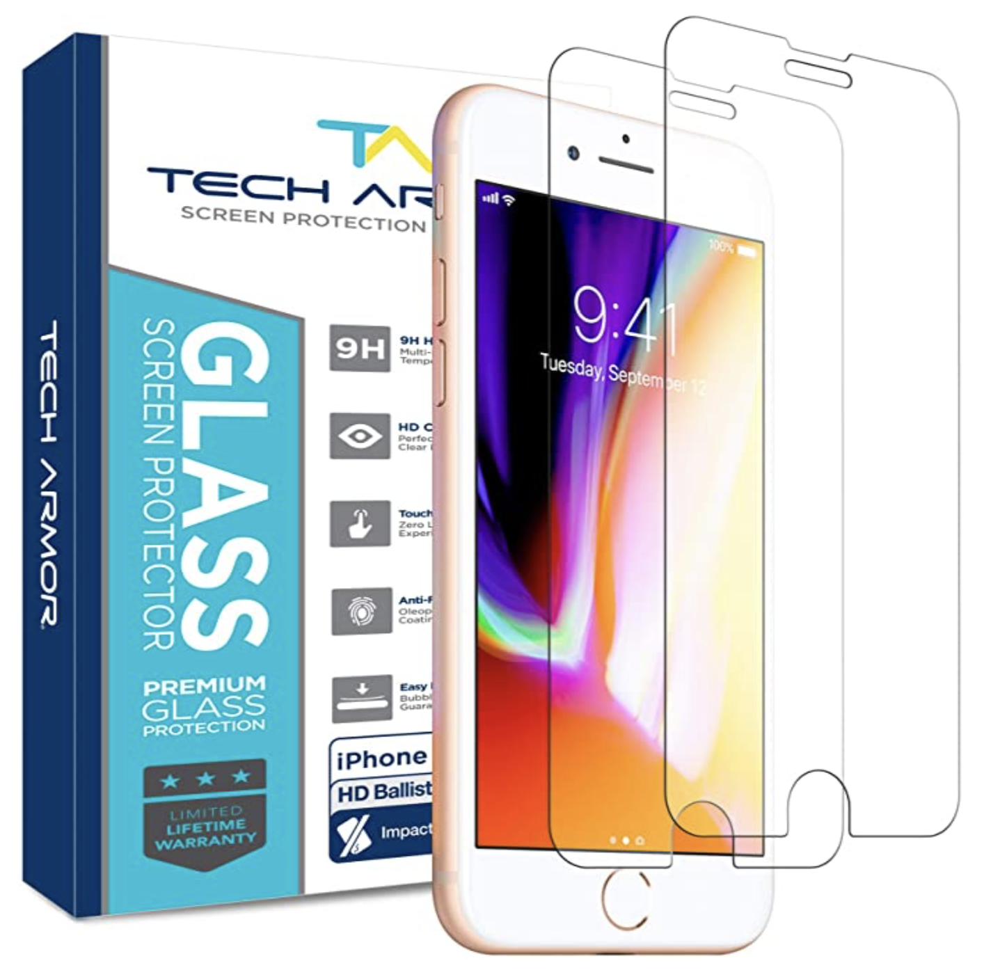 Tech Armor ELITE HD Clear Screen Protector for iPhone 7 - 2pk at Small Dog Electronics