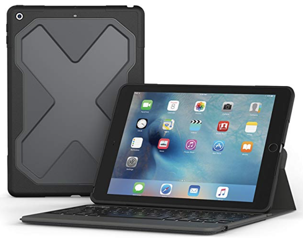 ZAGG Rugged Messenger Keyboard Case for 5th Gen iPad (2017) Black at Small Dog Electronics