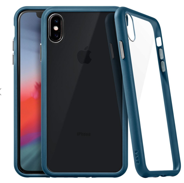 Laut Accents Tempered Glass Case for iPhone Xs Max - Dark Teal at Small Dog Electronics