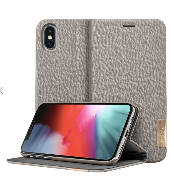 Laut Prestige Folio for iPhone X/Xs - Taupe at Small Dog Electronics