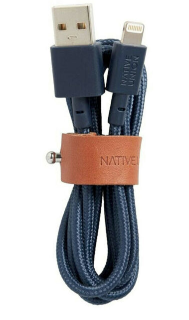 Native Union Belt Cable Ultra Strength Lightning Cable 1.2m - Marine at Small Dog Electronics