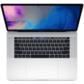 USED - MacBook Pro 15in w/Touch Bar 2.6GHz i7 6-Core 16GB/512GB/RP560x 4GB Silver at Small Dog Electronics